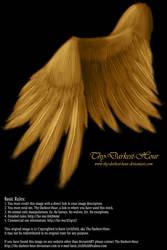 Soft Folded Angel Wing - Golden PSD by Thy-Darkest-Hour