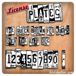 Licence Plates Font