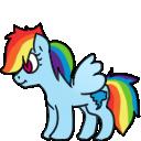 Rainbow Dash Shimeji by Ren-RenNightmare
