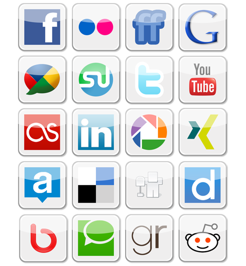 Social Media Icons by jwgb