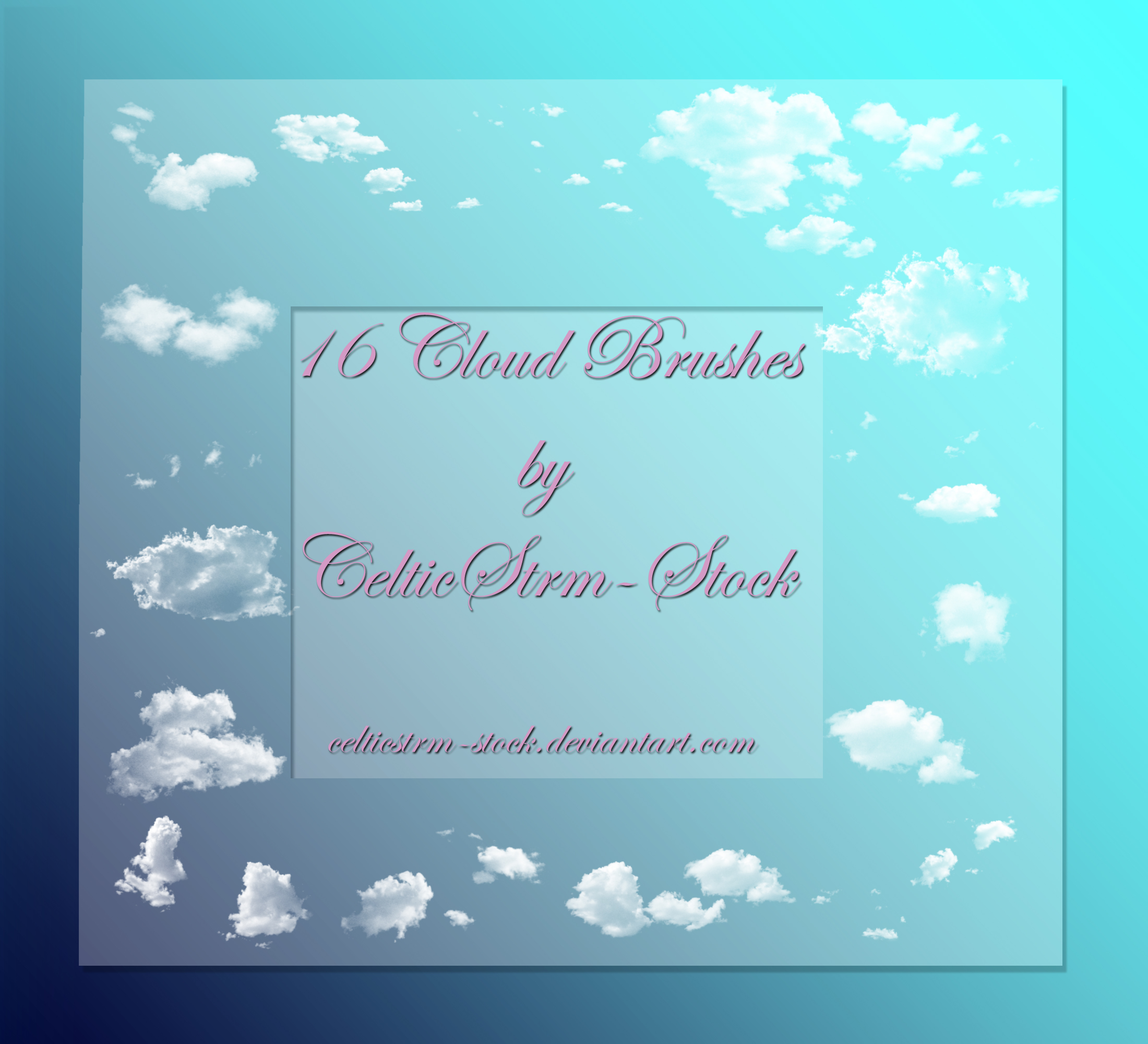 Cloud Brushes Freebie 2 by CelticStrm-Stock by CelticStrm-Stock