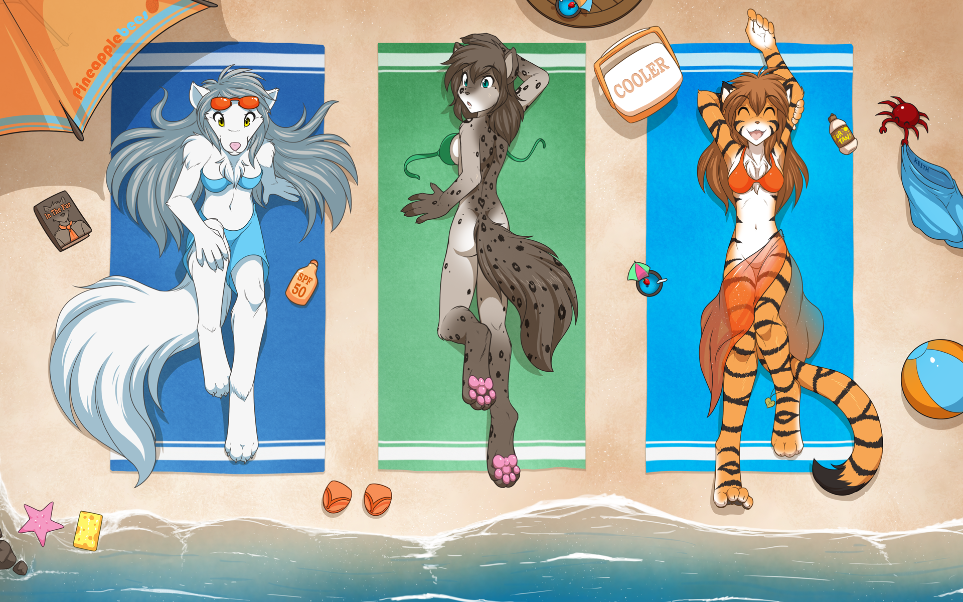 Beach Party Trio by Twokinds