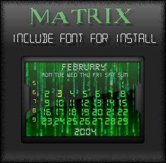 My Matrix -railendar by Xav73
