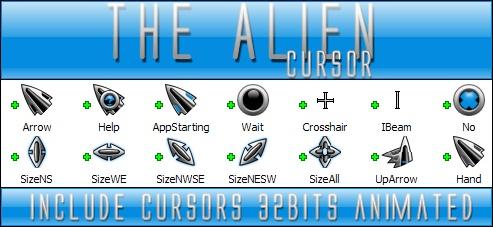 The Alien cursor 32bits by Xav73