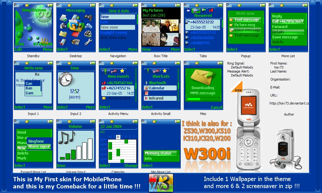 Royale-X's MobilePhone W300i by Xav73