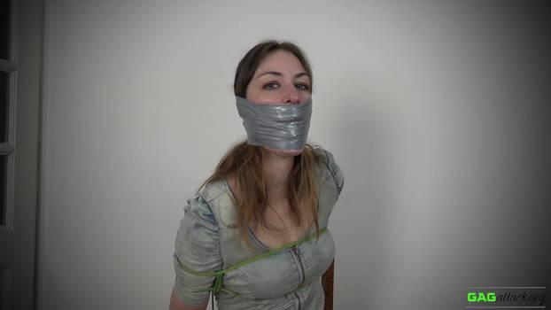 Pearl - PVC Tape Gagged ( GagAttack.nl )