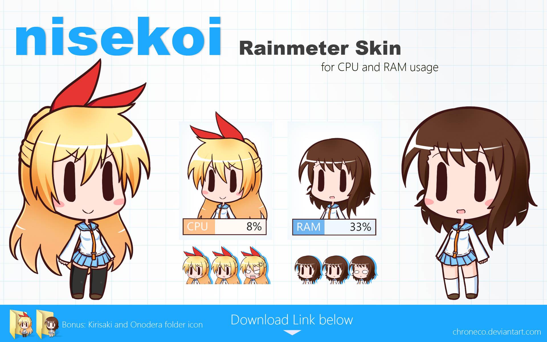 Nisekoi Rainmeter Skin