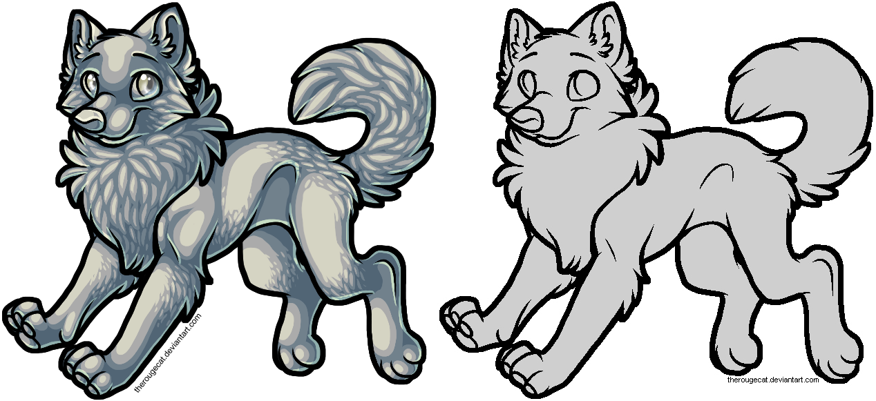 Free Wolf Lines Ps Mspaint By Therougecat On Deviantart