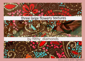 3 large flowery texures by filthy-diamonds