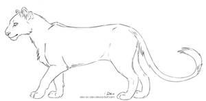 Dev's Lion Lineart