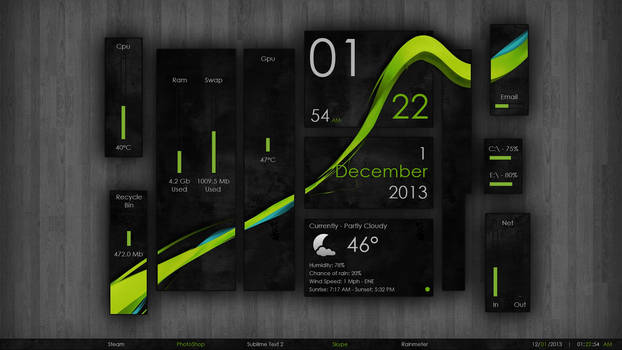 Wisp v2.4.4 for Rainmeter by FiiZzioN