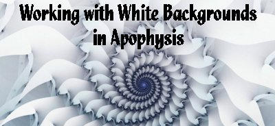 Using White Backgrounds in APO