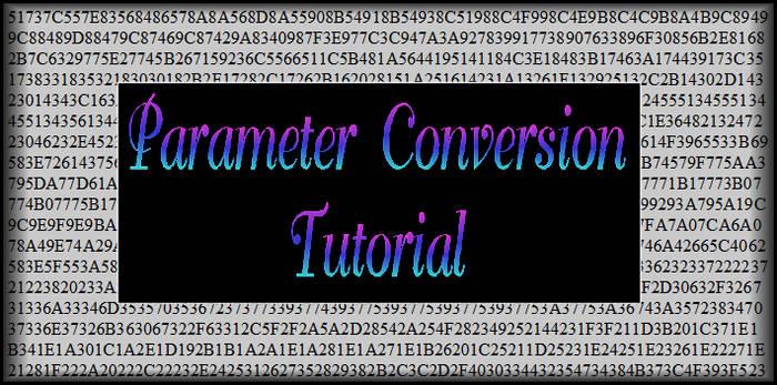 Parameter Conversion Tutorial