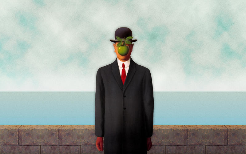 Rene Magritte The Son Of Man The Son of Man by n3cr...