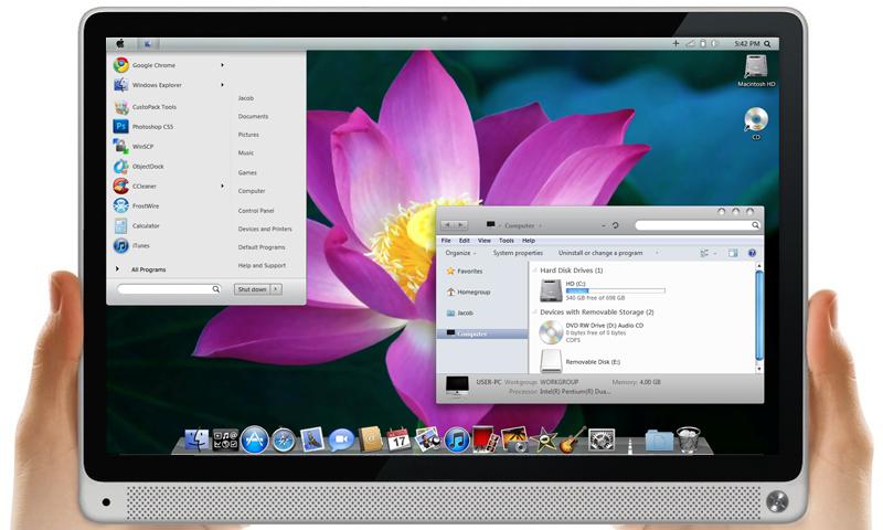 Mac Os X Lion 64 Bit Theme By Mrwhiteeye On Deviantart