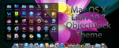 Mac OS X Lion ObjectDock Theme