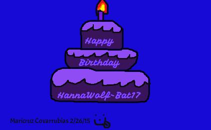 Happy Birthday HannaWolf-Bat17 by Anime-iac