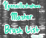 Makenna Matos/Kennaillustrations Master Brush List