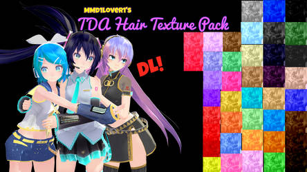 Tda Hair textures pack DL by MMD1lover1