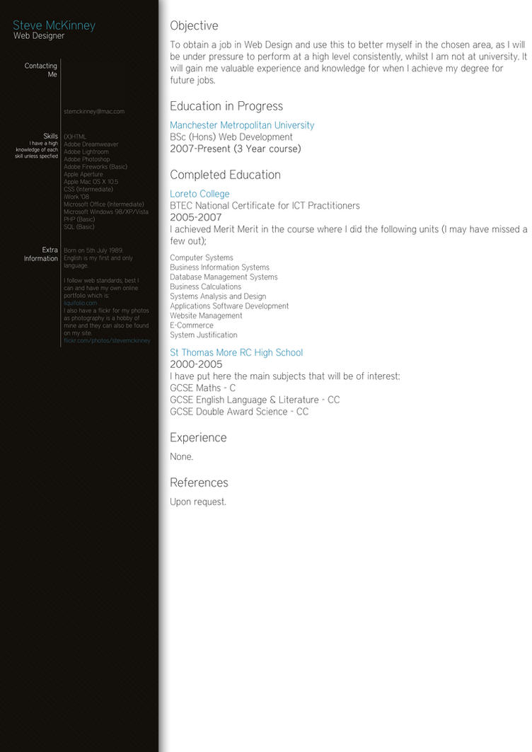 My CV by LiquidSteve