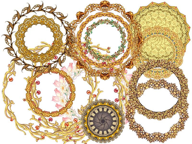 15 illustration frames