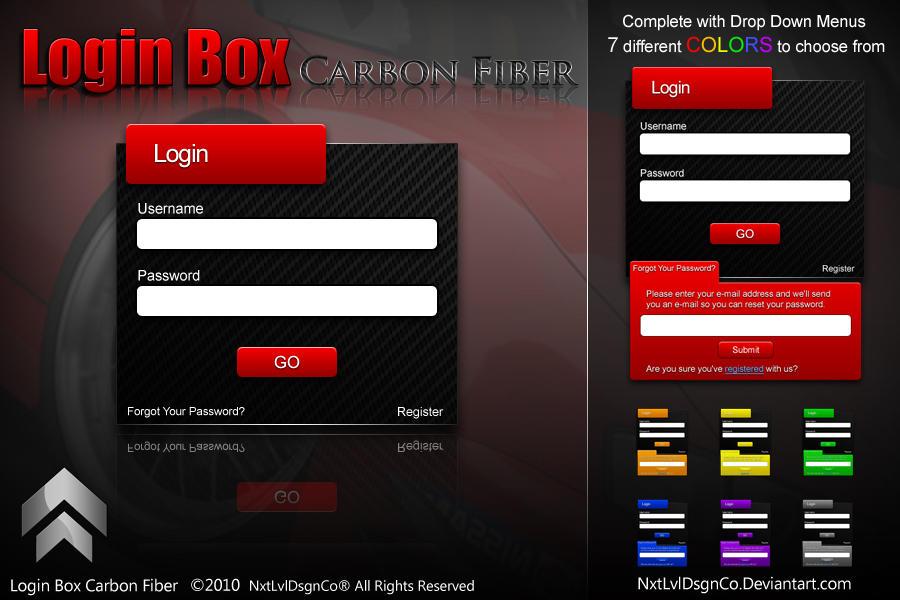 Login Box  Carbon Fiber by NxtLvlDsgnCo