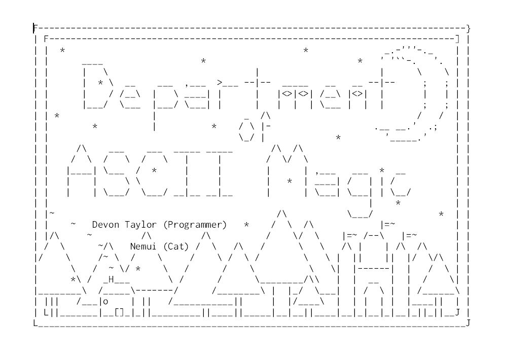 Department of ASCII Magic by LordPyxel