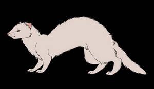 F2U ferret line art by Reltu