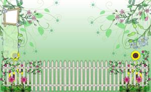 Flower Garden Twitter BG by ArtandMore