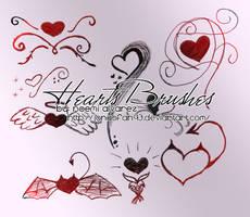 hearts brushes by JonasFan93