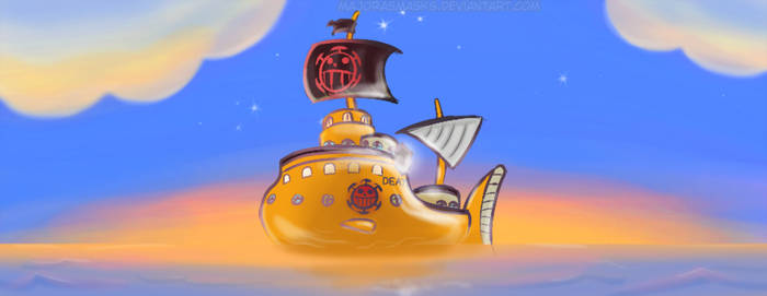 Heart Pirates' submarine (motion graphic) by MajorasMasks