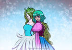 Monet and Sugar OP~Frozen crossover motion graphic by MajorasMasks