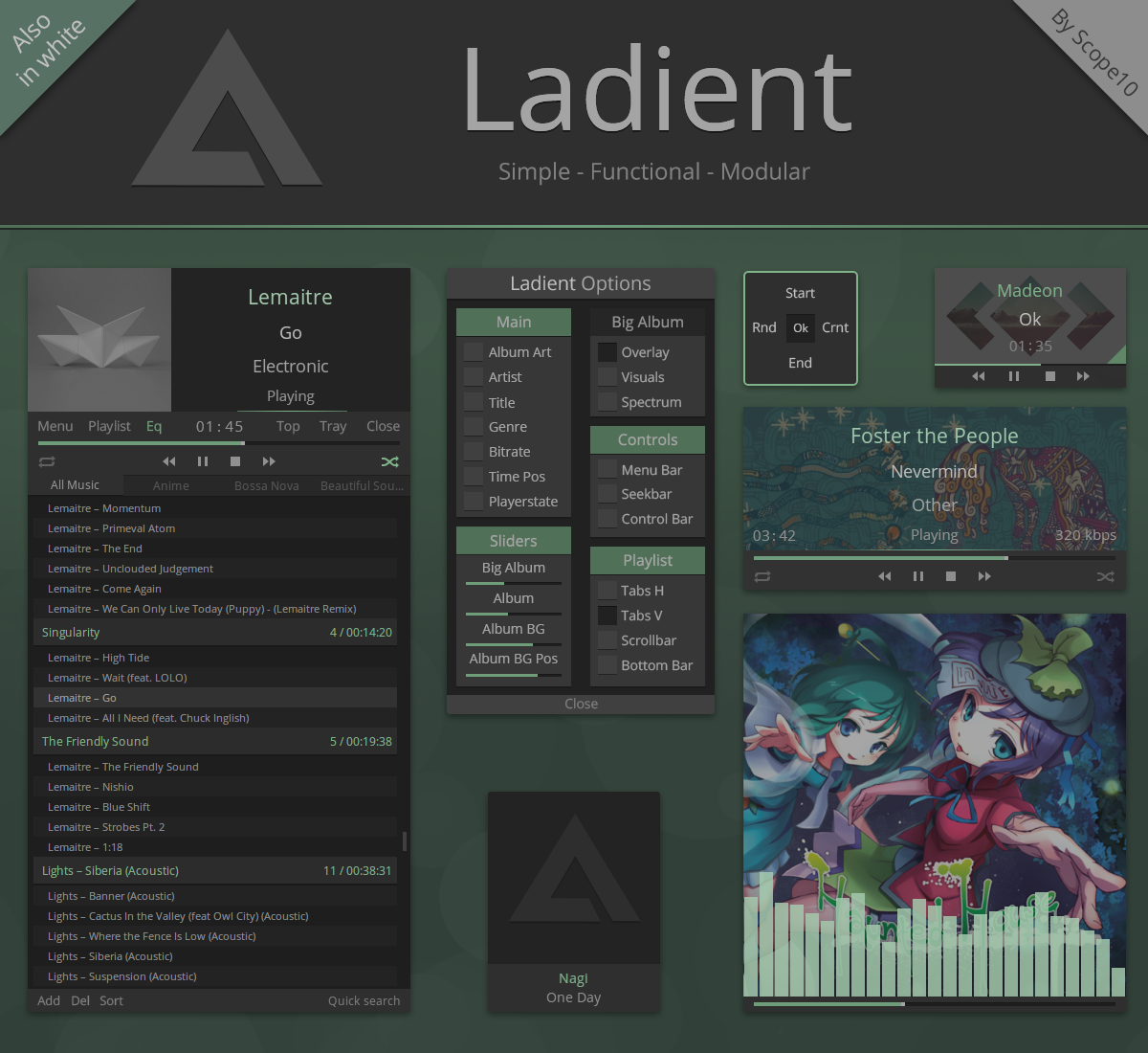 Ladient - AIMP 3.6 skin