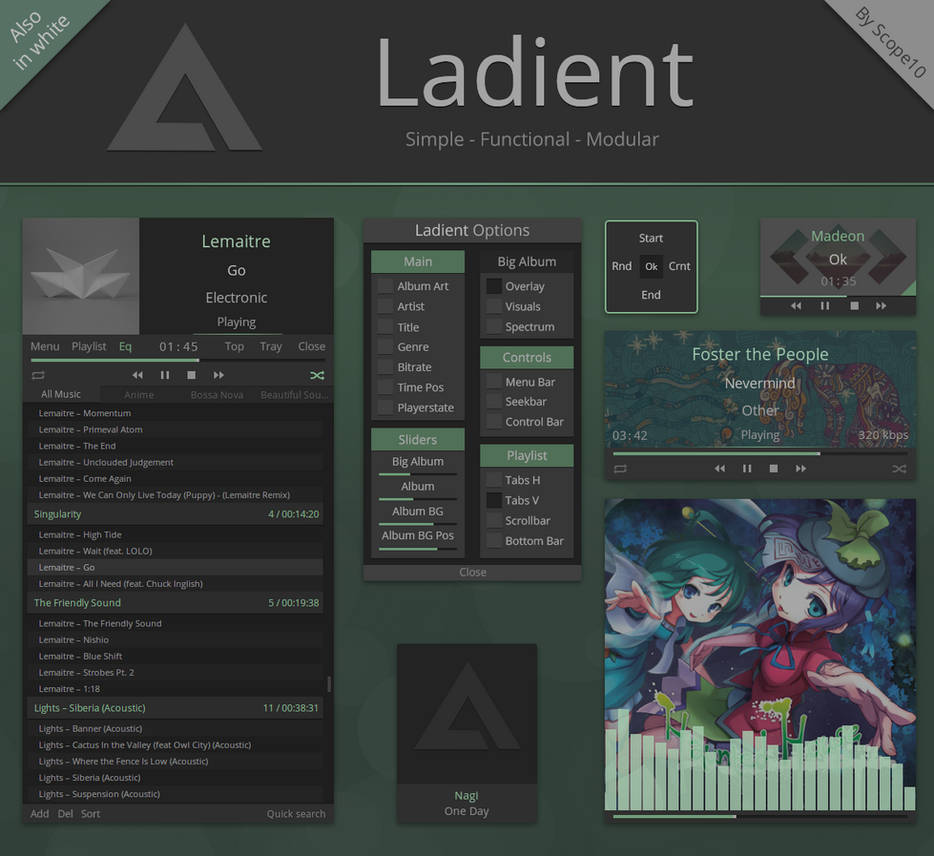 Ladient - AIMP 3.6 skin by Scope10
