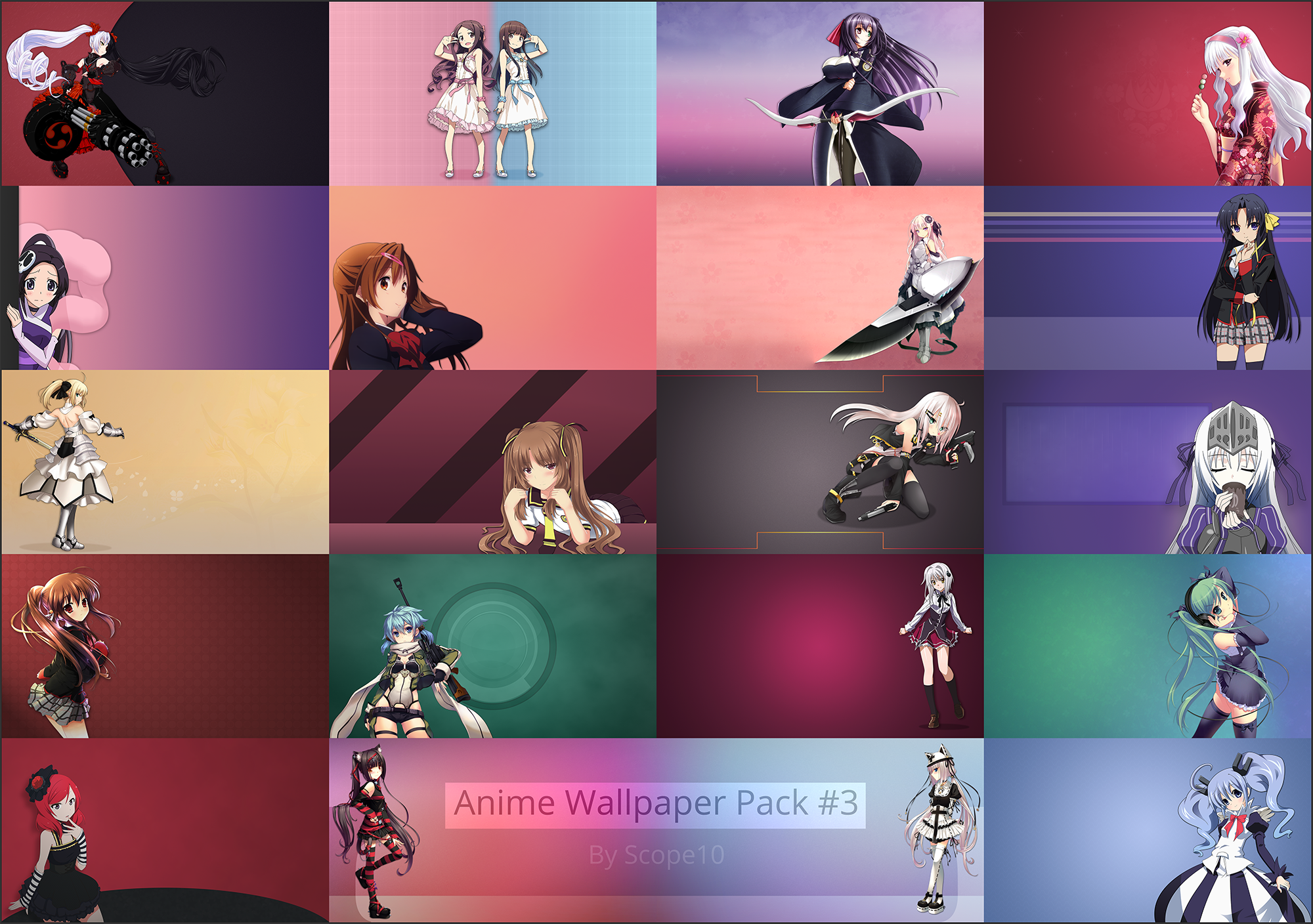 Anime wallpaper pack 3 by scope10