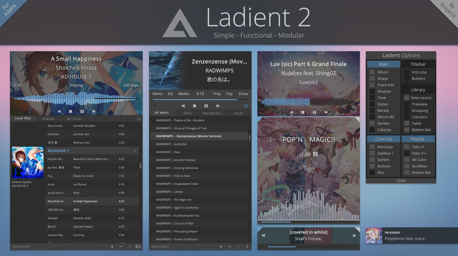 Ladient 2 - AIMP 4 skin
