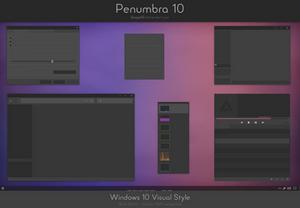 Penumbra 10 - Windows 10 visual style