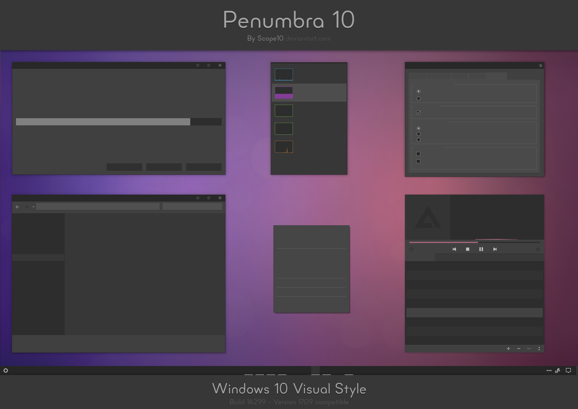 Penumbra 10 - Windows 10 visual style by Scope10 on DeviantArt