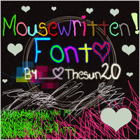 MouseWritten Font by TheSun20