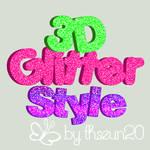 3D Glitter Styles by Sol