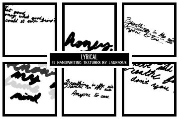 Lyrical: handwriting textures by verbalasphyxiation