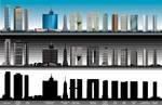 mexico city vector skycrapers