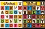rilakkuma alphabet vector