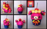 korilakkuma cupcake papercraft
