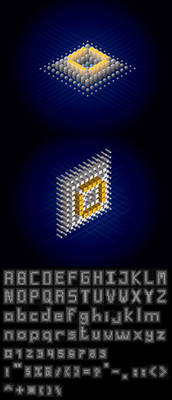 dotgrid free vector font