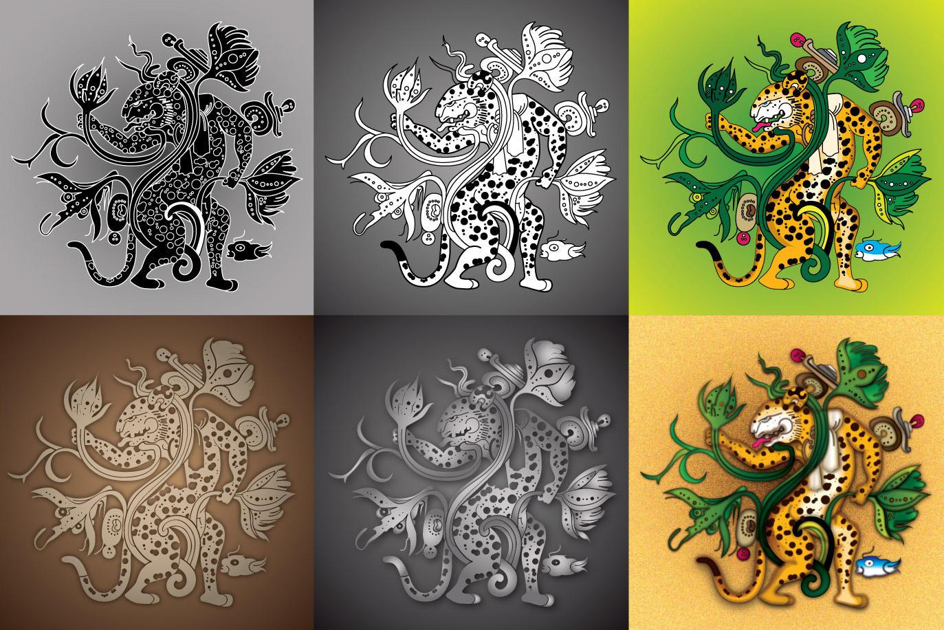 mayan jaguar vector freebie by ikarusmedia