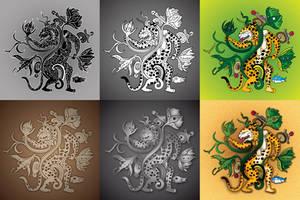 mayan jaguar vector freebie