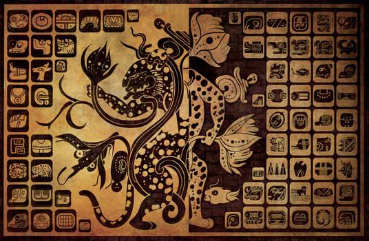 mayan glyphs wallpaper