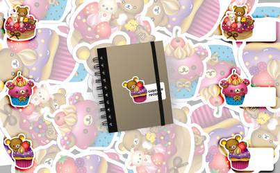 rilakkuma cupcake stickers