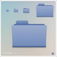 Blue Folder Icons by Nitnerolf